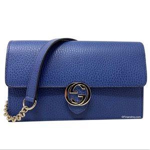 Gucci Interlocking G Clutch Crossbody Shoulder Bag